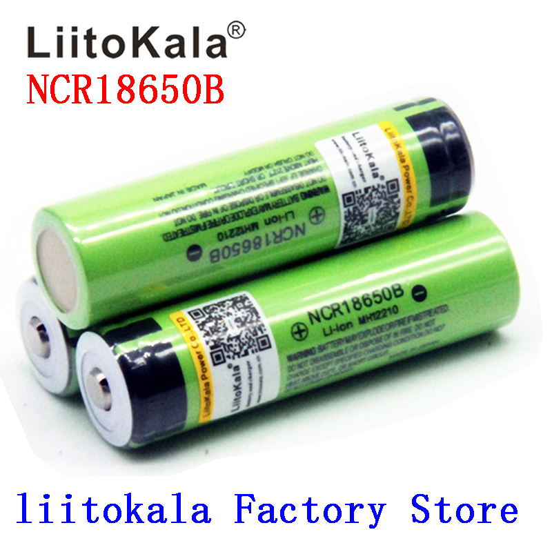 2019 NEW Liitokala <font><b>18650</b></font> Battery 3400mAh 3.7V Li-ion <font><b>NCR18650B</b></font> Battery <font><b>18650</b></font> Rechargeable for Flashlight (NO PCB) image
