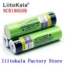 2020 חדש Liitokala 18650 סוללה 3400mAh 3.7V ליתיום NCR18650B סוללה 18650 נטענת עבור פנס (אין PCB)