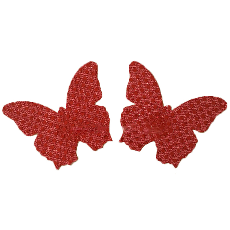 Women Self Adhesive Pasties Disposable Nipple Cover Sexy Butterfly Breast Sticker Sequins Sticky Bra Pads Boob Tape