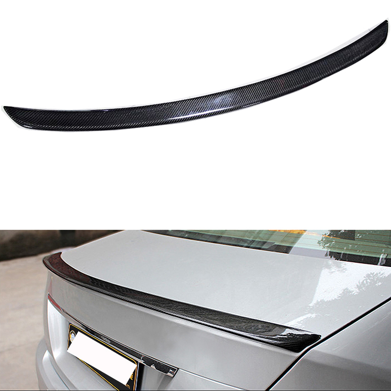 W204 C180 C200 C260 C300 Carbon Fiber Car Rear Trunk lip spoiler wing For Mercedes Benz W204 C63 4 Door 2008-2013 AMG Style цена