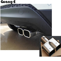 High Quality Car Cover Muffler Exterior End Pipe Dedicate Stainless Steel Exhaust Tip Tail 1pcs For