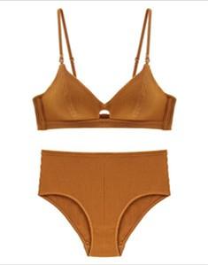 CINOON-High-Quality-Cotton-Underwear-Set-Fashion-Striped-Bra-Set-Noble-Girl-Lingerie-Set-Push-Up