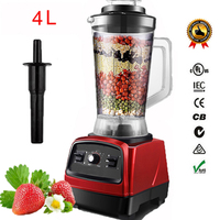 2800W 4.0L 3HP BPA FREE commercial professional smoothies powerful blender food mixer juicer with german motor technology