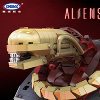 XINGBAO 04002 830Pcs Genuine Creative Movie MOC Series The New Alien Set Educational Building Blocks Bricks Toys Model Gifts