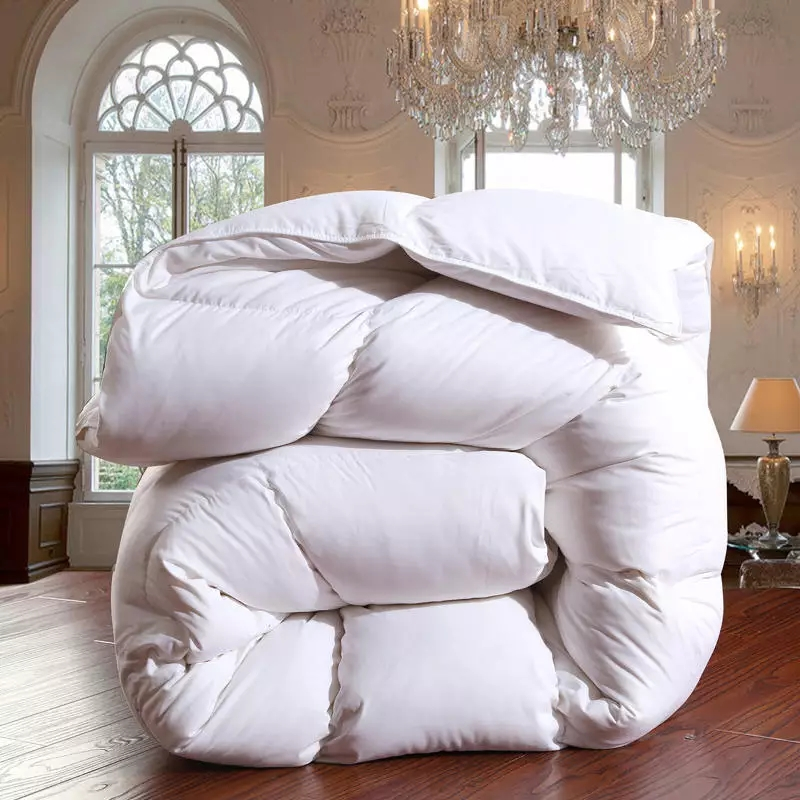 White Goose Down Comforter Natural Feather Down Winter Warm Duvet Double Queen King Size Quilt Fluffy Soft Goose Down Comforters