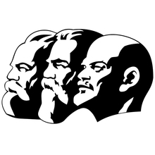CS-1202#22*14cm Marx-Engels-Lenin funny car sticker vinyl decal silver/black for auto stickers styling