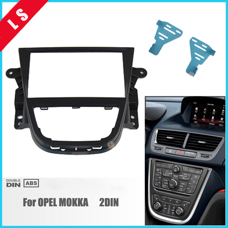 173*98MM 2 Din Car Radio Fascia for Opel Mokka 2DIN DVD Dash Mount Kit Adapter Trim Facia Panel Surrounded Frame Dashboard Panel