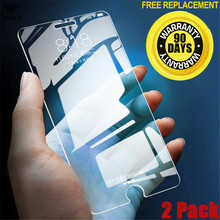 [2 Pack] Tempered Protective Glass For iphone 5 5s se 7 6 6s 8 Plus X Screen Protector 2.5D