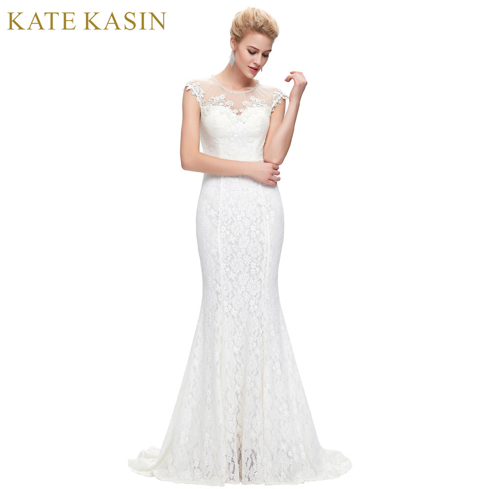 Robe De Mariage Vintage Mermaid Wedding Dress 2017 Free Shipping Lace Bridal Gown Sleeves Vestido De