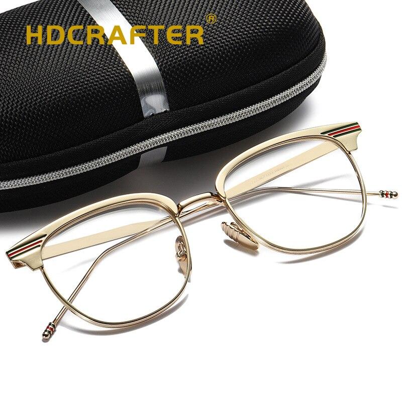 Man Woman Retro Glasses Transparent Metal eyeglass frame Black Silver Gold Spectacles Fashion Eyeglasses 3 Colors Optical Frames
