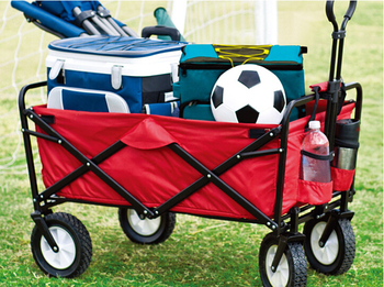 2016 New portable Folding shopping cart push rod trolleys outdoor camping driver cart