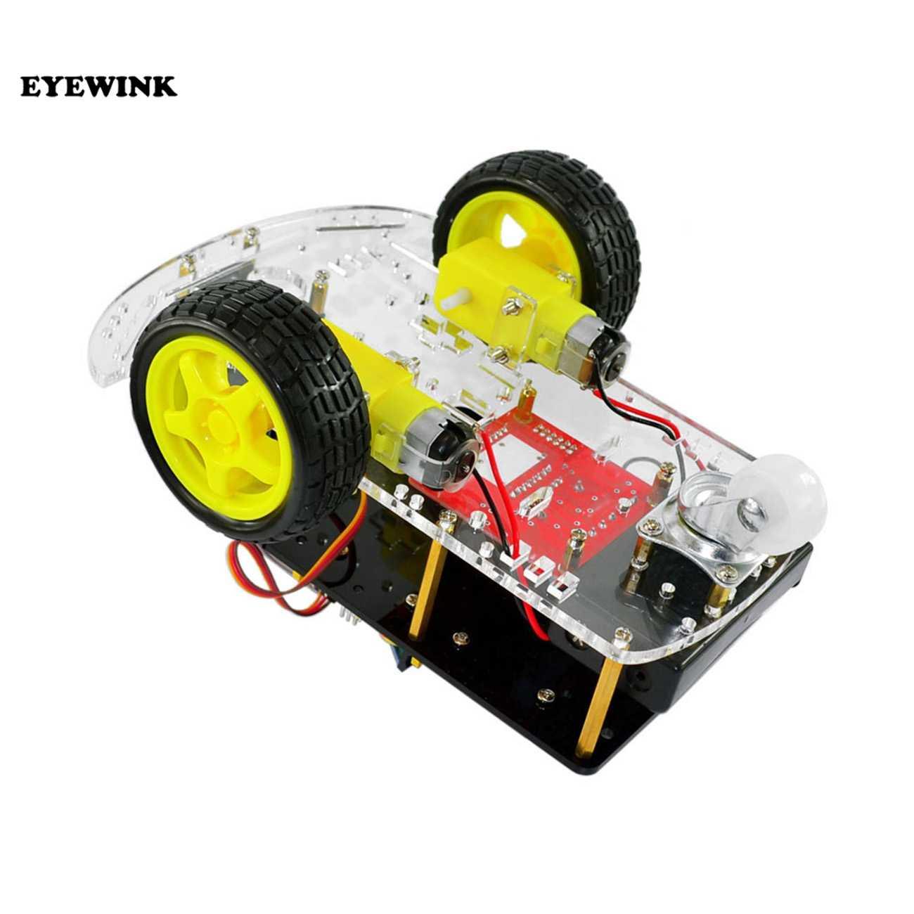 รถอัจฉริยะ Learning Suite หุ่นยนต์อัจฉริยะเต่าไร้สายควบคุมสำหรับ Arduino รถหุ่นยนต์ชุด