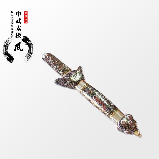 Пекин Ухань высококачественная нержавеющая стальная телескопическая Перегородчатой меч Тайцзи меч уха отправить taichi утреннее шоу