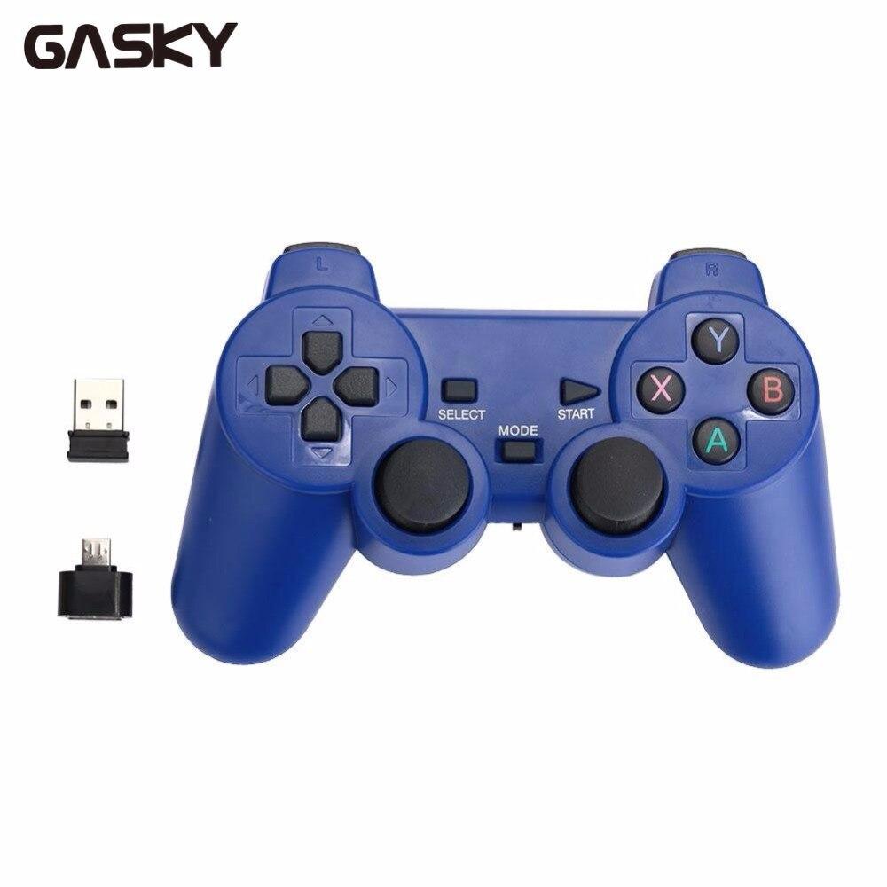 Gasky 2.4G Sem Fio Inteligente Controlador Gamepads Joypad Para Android Para PS3 PlayStation 3