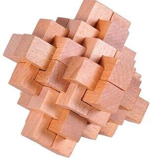 4PCS / Set Classic IQ Wooden Puzzle Brain Teaser Burr Interlocking - Puslespill - Bilde 3