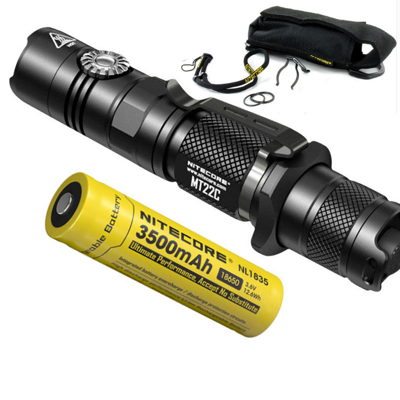 NITECORE MT22C + 18650 akku Drehschalter 1000 LMs Taschenlampe Suchen Rettungs Tragbare Diecast Taschenlampe Freies Verschiffen-in Taschenlampen aus Licht & Beleuchtung bei Outdoorflashlight Store