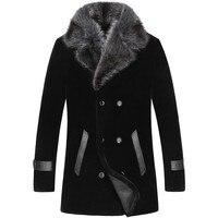 2019 мужское цельное пальто Длинная норка воротник шерстяная куртка прямые продажи палто большой размер зимняя овечья стрижка верхняя одежд