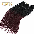 Havana Mambo Twist Crochet Braid Hair 100g burgundy Synthetic Ombre Kanekalon Braiding Hair Extension ombre Crochet braid hair