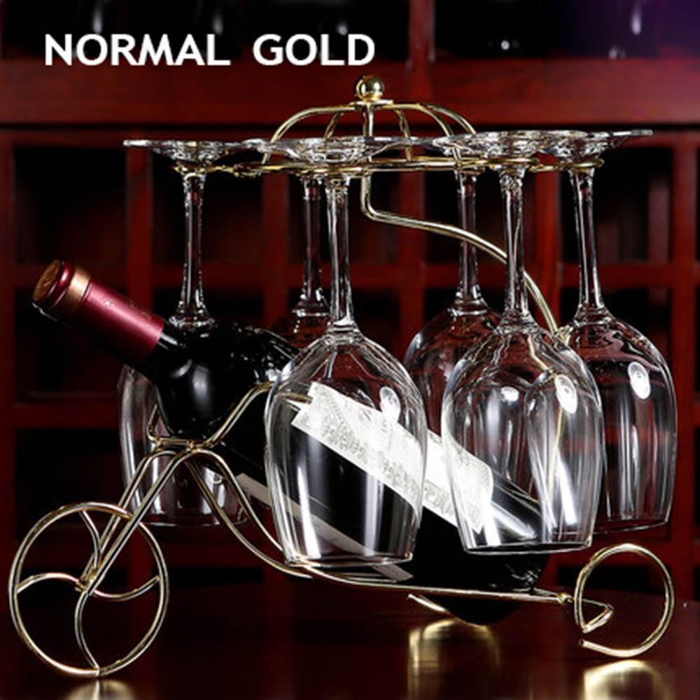 Decorative Racks Wine Bottle Holder Hanging Upside Down Cup Goblets Display Rack Iron Wine Stand Arts Design KC1283 (15)