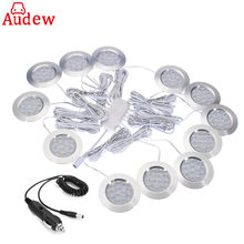 12Pcs Car Interior Light LED Dome Lamp 300 LM Spot Light Car Charger For Camper Van Caravan Motorhome Boat for VW T4 T5