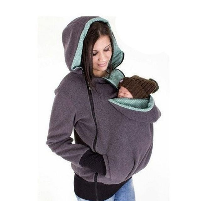 Fashion Style 3 in One Maternity Pregnancy Pregnant Woman Hoodies Carry Baby Sweatshirt Mom Zipper Coat Hoodies