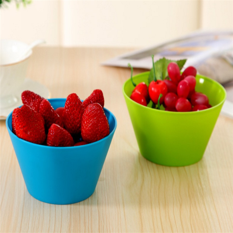 Bowl Salad Soup Bowl Fruits Vegetables Bowl Household Kitchen Home Use Bowl Plastic Tableware Tools 14*7cm