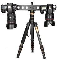 Камера штатив с 1/4 'наклона головы + двойной быстросъемной площадкой для DSLR
