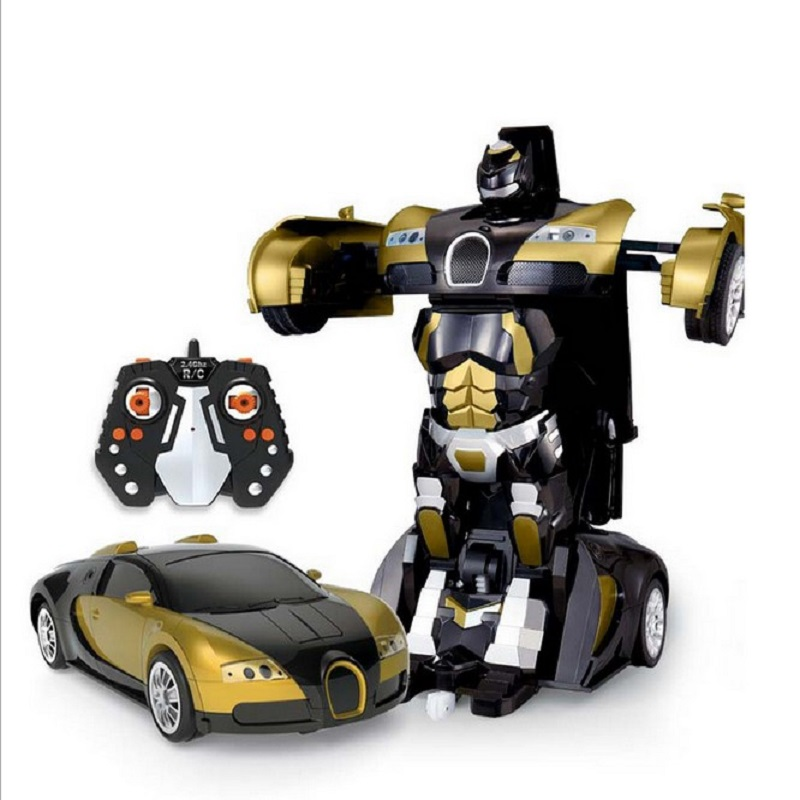 Toys Figures 2.4G Remote Control Robot Car Deformation Flashing Lights Remote Controller Car Styling Robot Dynamic Robot Toys car transformers deformation robot transformers bumblebee model car toys for children