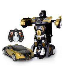 Toys Figures 2.4G Remote Control Robot Car Deformation Flashing Lights Controller Styling Dynamic