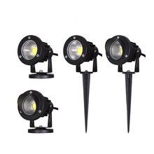 12 В/220 В наружный садовый светильник, светодиодный светильник для газона 3 Вт 5 Вт 10 Вт COB светодиодный светильник, водостойкий IP65 светильник для пруда, ландшафтный Точечный светильник, s лампы