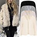 Женщины Базовая Пальто Мода Пушистый Shaggy Искусственного Меха Пальто Куртки с длинным рукавом женская верхняя одежда твердые chic осень повседневная пальто куртки