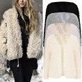 Women Basic Coat Fashion Fluffy Shaggy Faux Fur Coat Jacket long sleeve female outerwear solid chic autumn casual coat jacket