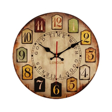 European Retro Wall Clock Vintage 12 Inch Digital Clocks Home Decor Kitchen Cuckoo Wooden Watch Marij Uana Antique B17