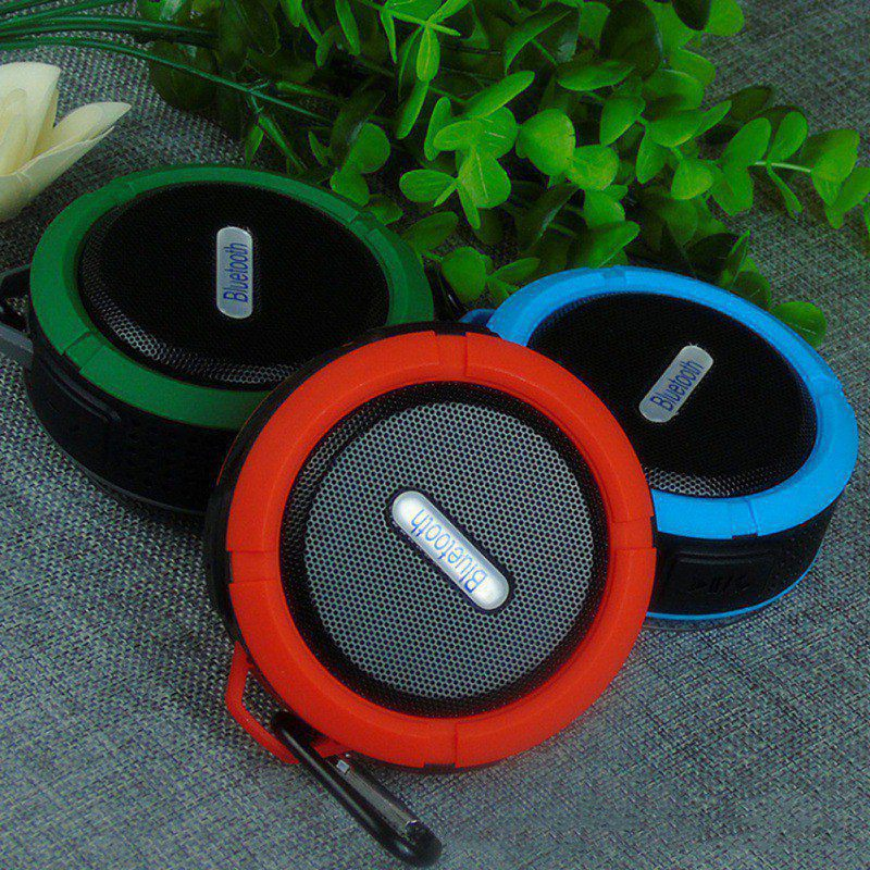 Portable IPX6 Waterproof Speaker with Bass Outdoor Wireless Bluetooth 4.0 Stereo Speaker with Mic Shock Resistance