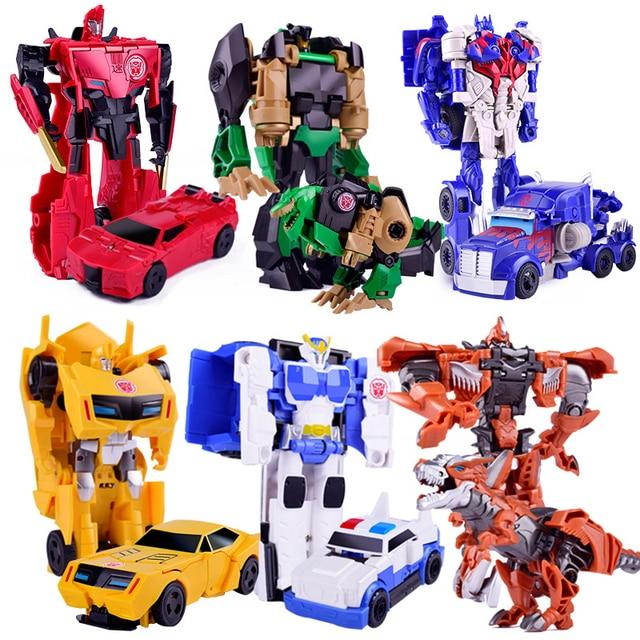 Venda única Transformação Robot Car Racing Modelo De dinossauro De Plástico Educação Brinquedos Meninos Caminhão Coleção Toy Kid Presente Brinquedo Adulto