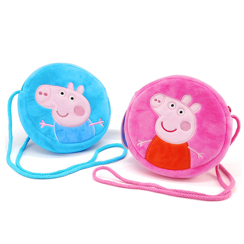 Origina Peppa Pig George Pig Purse Plush Toys font b Kids b font Girls Boys Kawaii