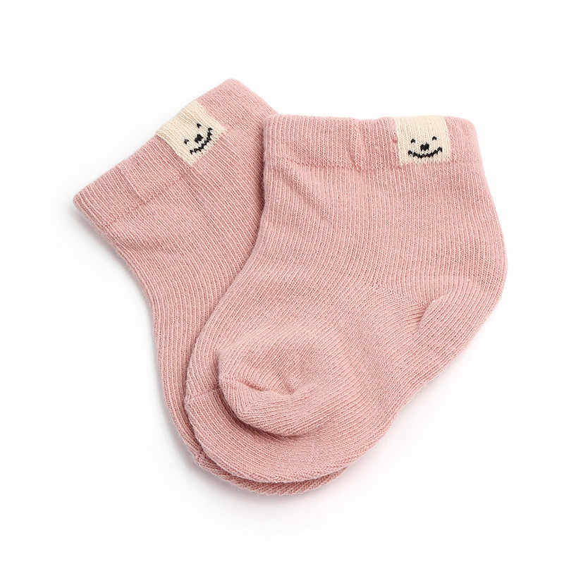 1 ペア春秋の新綿ファッションかわいいユニセックスベビー新生児新鮮なキャンディーカラーのベビーソックス