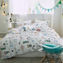 Cute cartoon bedding sets adult teen child,full queen king colorful character home textile flat sheet pillow case quilt cover