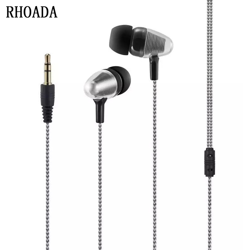 RHOADA 2017 In-Ear Music Earphone Wired 3.5mm Stereo In-ear Earbuds Earphone fone de ouvido for Xiaomi MP3 MP4 mobile phone doosl metal earphone noise isolating earbuds hifi music in ear wired for iphone ios android cellphones pc fone de ouvido
