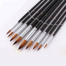 9pcs/set Pointed Watercolor Paint Brush Different Size Nylon Hair Acrylic Oil Painting Brushes For Drawing Art Supplies 804 6pcs wolf hair paint brush set round tip pointed artists paintbrush for watercolor acrylic oil painting art supplies