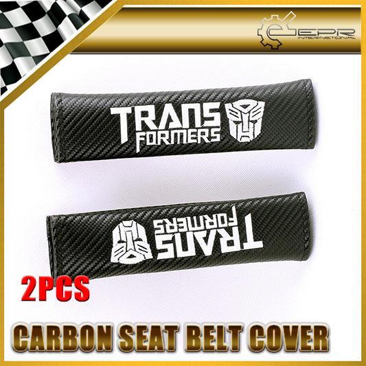 Car-styling 2 unids/par Para Trans Transformadores de Carbono Cubierta Del Cinturón de seguridad Universal JDM