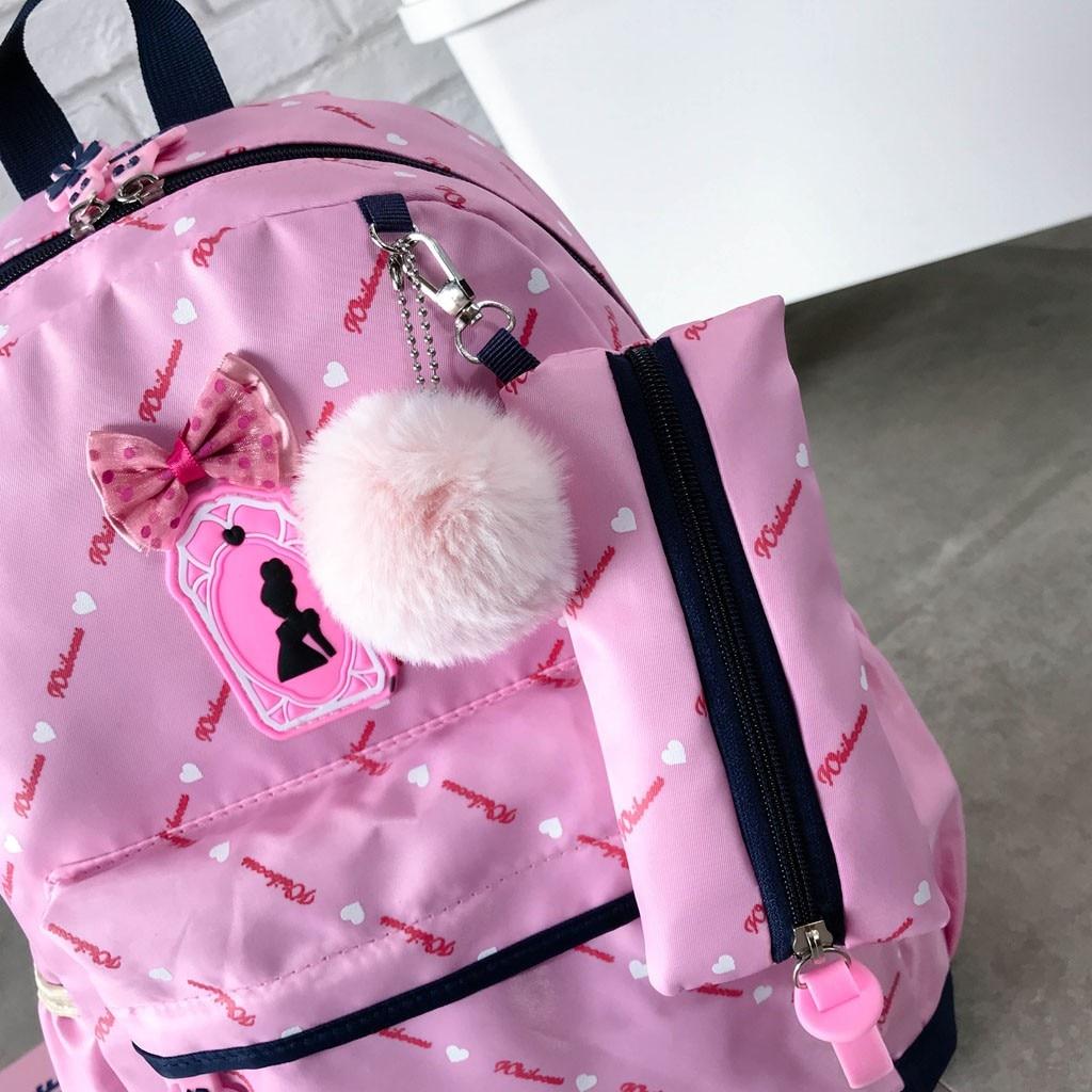 Women Bow Canvas Three-piece School Bag 31