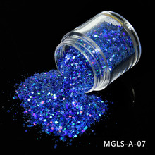 Holographic Nail Glitter Flakes MIX SIZE Irregular Shape Laser Mirror Sequins Tips For Nails Lt646