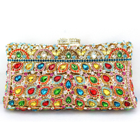 Multi Color Crystal Clutch Evening Bags Pillow Best Handmade Purses Designer Bags Sale For Wedding Party