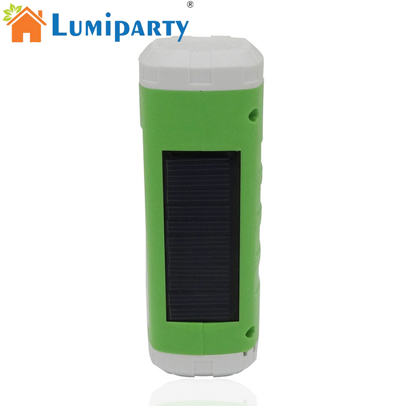 LumiParty Outdoor Portable Solar USB Powered LED Flashlight Sidelight Wireless Bluetooth Speaker Player Support FM Radio TF Card 2016 newest portable led flashlight outdoor bluetooth speaker tf card stereo double horn sports bicycle speakers ad0093