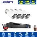 H.265 CCTV System POE NVR kit 4ch 4MP wasserdichte POE IP kamera kugel Home Security kamera system außen niedrigen lux onvif mit 2TB