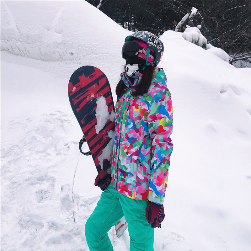 Women's Ski Suit Winter Jackets Overalls Snowboard Suit Snowboarding Sets Skiing Jacket Windproof Waterproof Keep Warm Ski Set