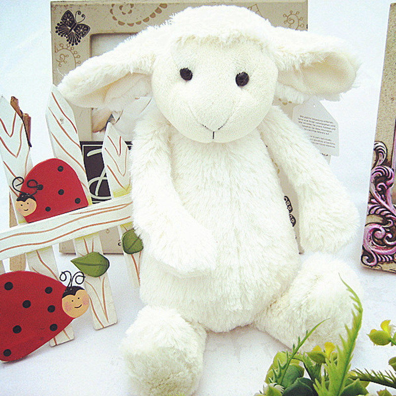 30cm Soft Plush Stuffed Sheep Calm Toy Lamb Doll for Baby Toy stuffed animal 44 cm plush standing cow toy simulation dairy cattle doll great gift w501