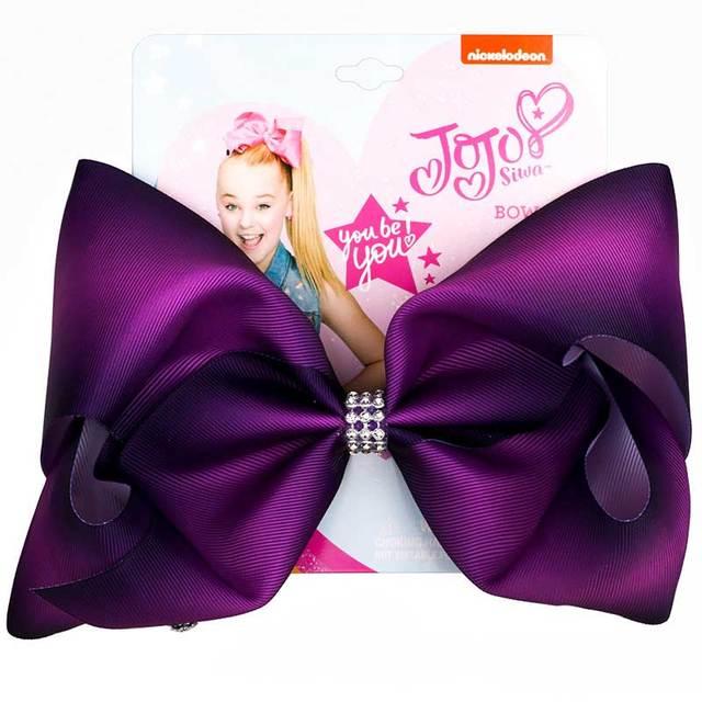 8 inch JoJo  Bow Hair Accessories Girls Color Hair Clip Hair Accessories Handmade Bow Hair Clips JOJO Siwa Dropshipping
