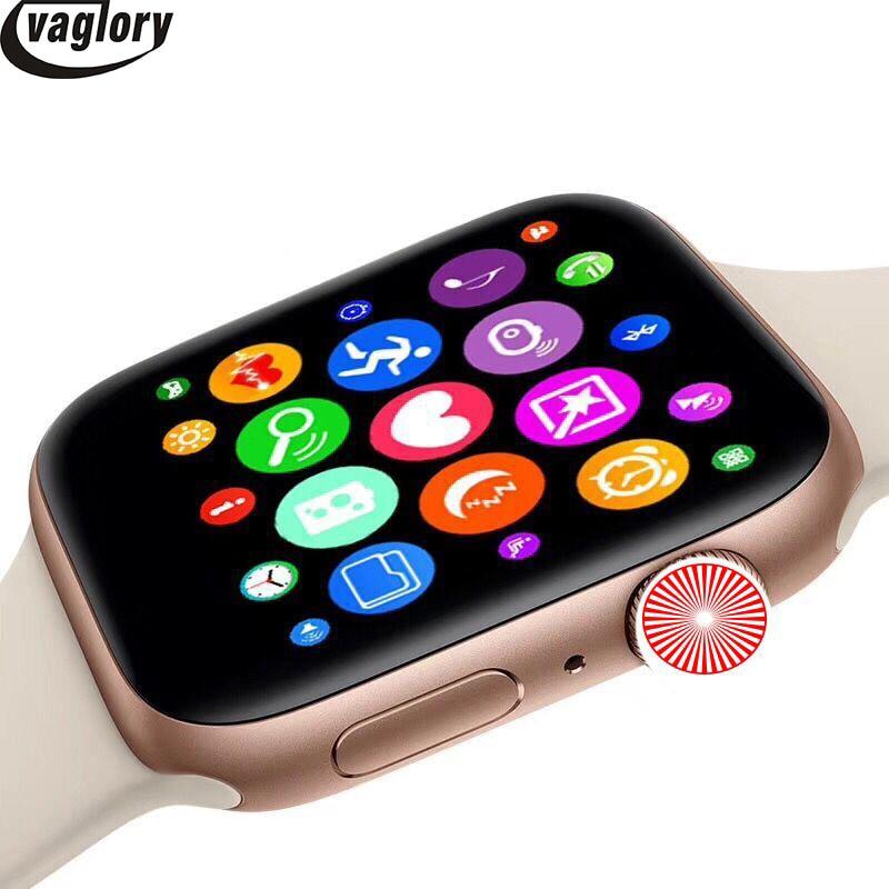 Bluetooth 8 IWO Série 4 44mm caso 1:1 Smartwatch relógio Inteligente Monitor de Freqüência Cardíaca Wisrtwatch para Huawei Xiaomi Oppo iPhone